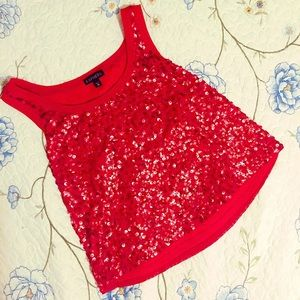 *NEW LISTING* Express Red Sequin Tank